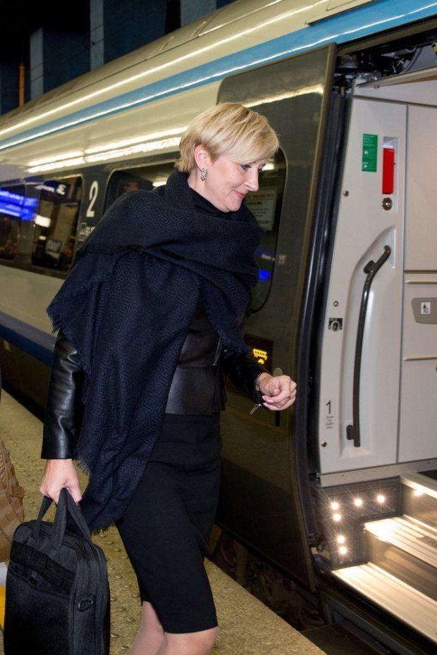 Zdjęcie numer 5 w galerii - Agata Duda w Pendolino. Pierwsza dama jechała pociągiem do Krakowa.