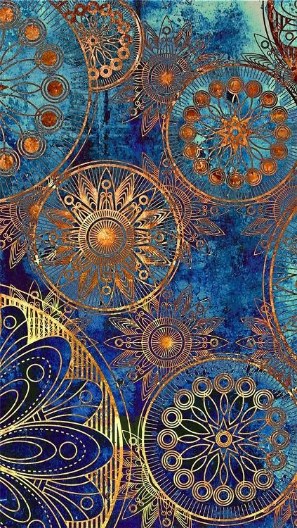.Shades of Blue and gold