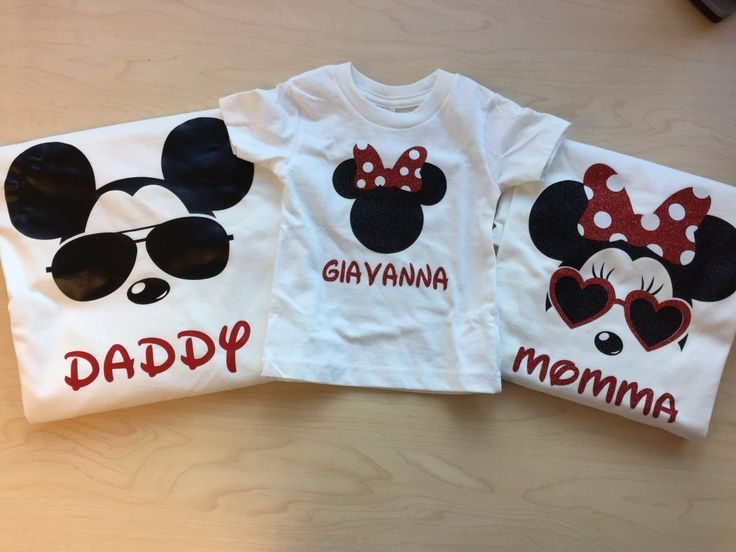 Disney Family Shirts With Sunglasses