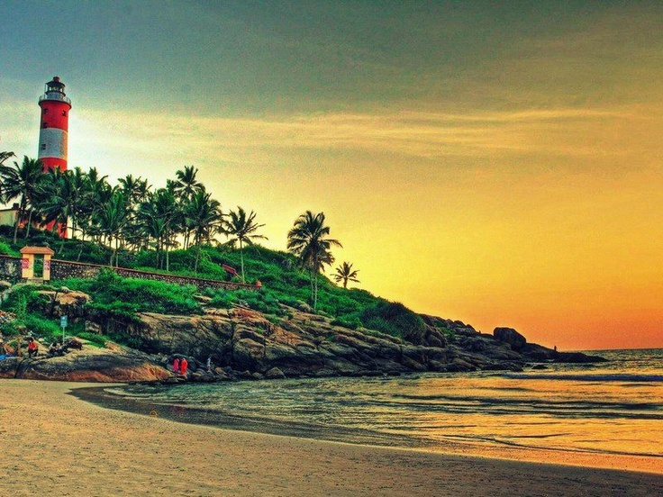 The famed Kovalam Beach, Trivandrum, India