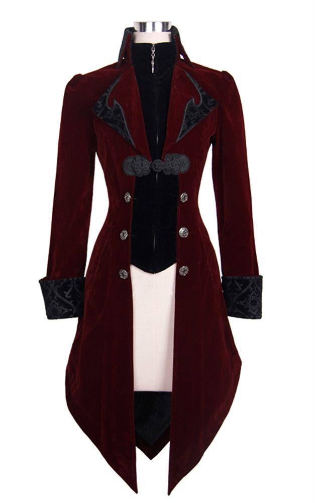 Devil Fashion Red Maelstrom velvet jacket