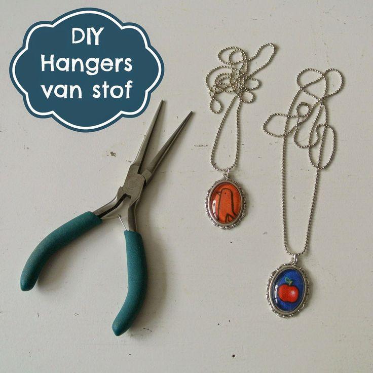By MiekK Tutorial: Hangers maken met Restjes Stof