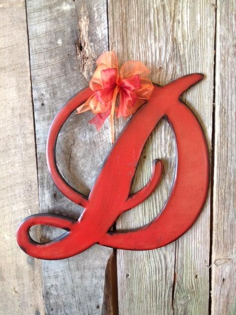 Wooden Door Hanger Letter D Astoria Font By Rkdragonfly On