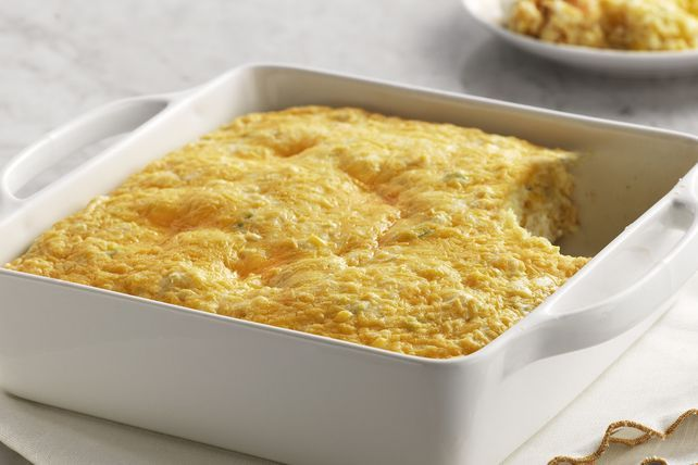 Serve the perfect side dish for any special dinner with our Corn Soufflé! Reminiscent of home-style cornbread, this Corn Soufflé is delicious and fluffy.