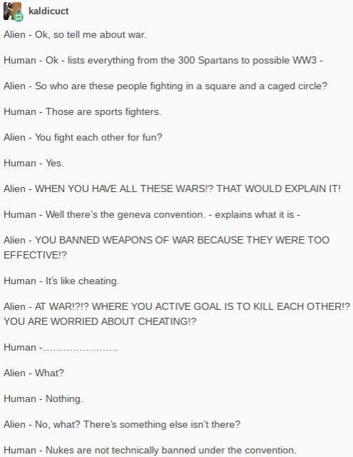 Humans Are Weird / Space Australia Nukes