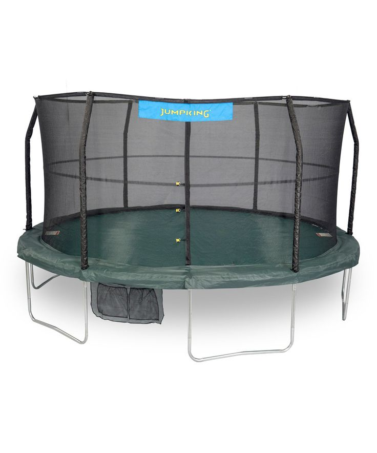 Look what I found on #zulily! Green & Black Jumpking 15' Trampoline Set by Bazoongi #zulilyfinds
