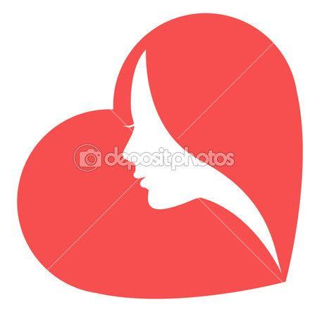 Женщины в сердце — Векторное изображение © Olisia #5191776