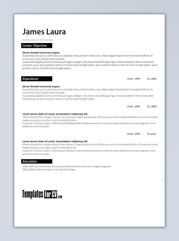 Ms Office Resume Templates 2010 Word Resume Wizard Resume Examples