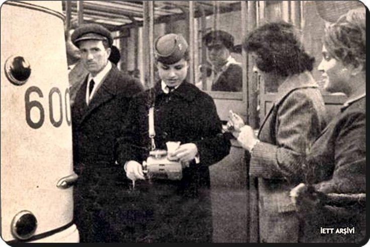 """ilk kadın biletçi """"Ayşe Tuncalılar"""" (İETT arşivi, 1960) #istanbul #istanlook"""