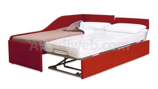 Divano letto con secondo letto estraibile M1550 - prodotti - Divani, poltrone, letti, pouf e salotti artigianali - ArrediWeb