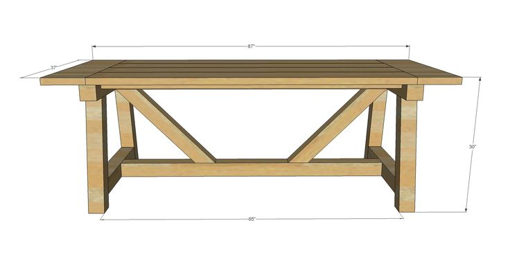 Ana White | Build a 4x4 Truss Beam Table | Free and Easy ...