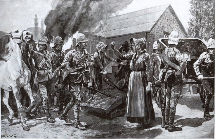 British burning down houses & concentration camps. This Day in History: May 31, 1902: The Boer War ends  - http://dingeengoete.blogspot.com/2013/05/this-day-in-history-may-31-1902-boer.html