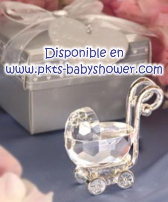 Recuerdos para Baby Shower - Carriola de Cristal Cortado - Disponible en www.pkts-babyshower.com