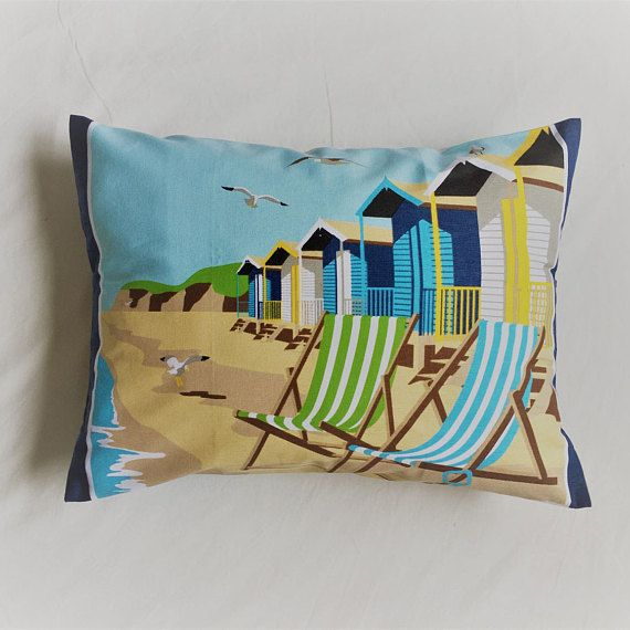 Beach Hut Cushion  Life's a Beach Beach House Style