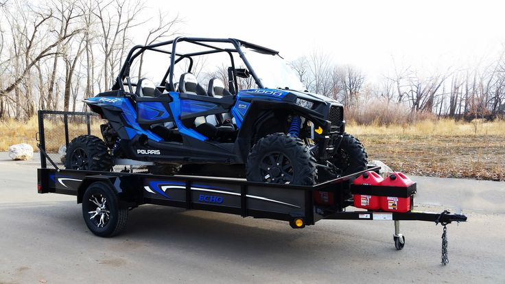A Beautiful RZR with 13' Ultimate UTV Trailer and Custom Matching Graphics.