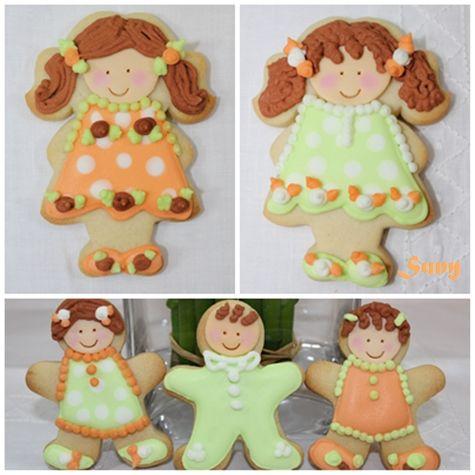 Me gusta hacer diferentes pruebas con las galletas decoradas.