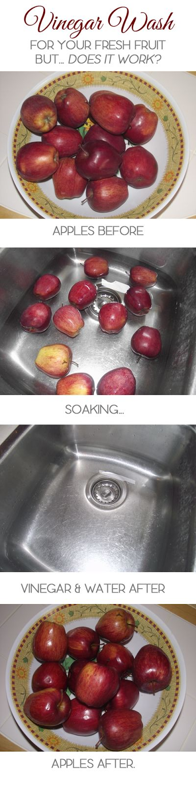 Reflections of the Times: Vinegar Fruit Wash -or- Waste of Time? Click through to see my results!