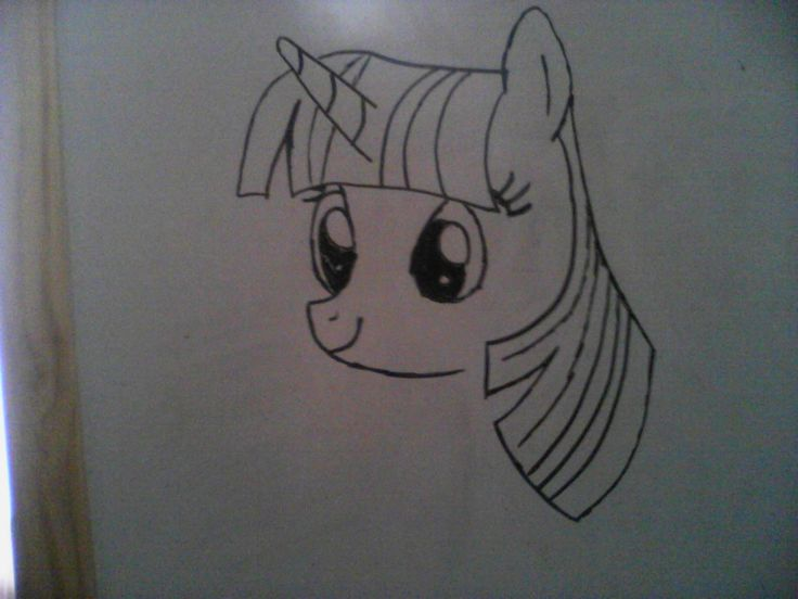 Twilight Sparkle on a white board