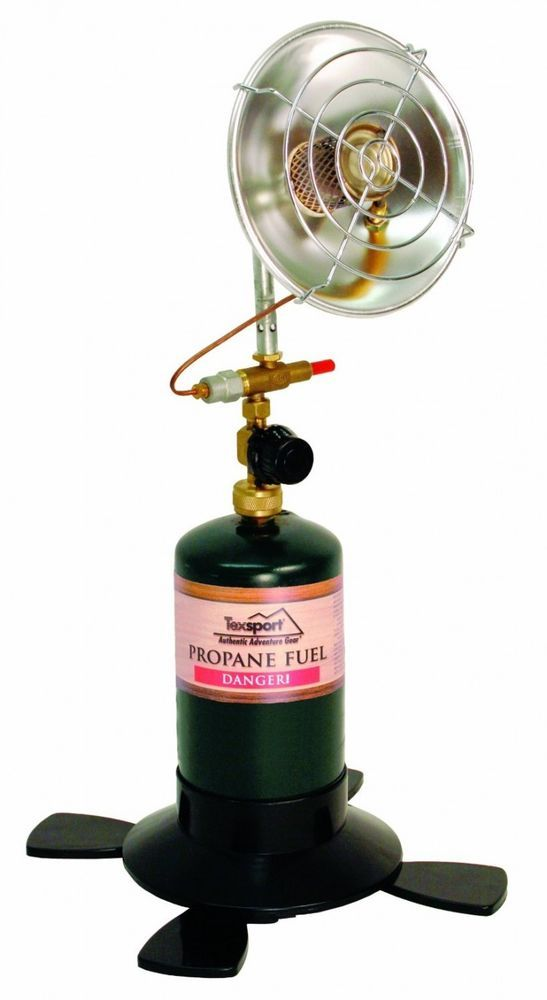 Portable Propane Heater Camping Hunting Outdoor Fishing Golf Patio Gas Travel #Texsport