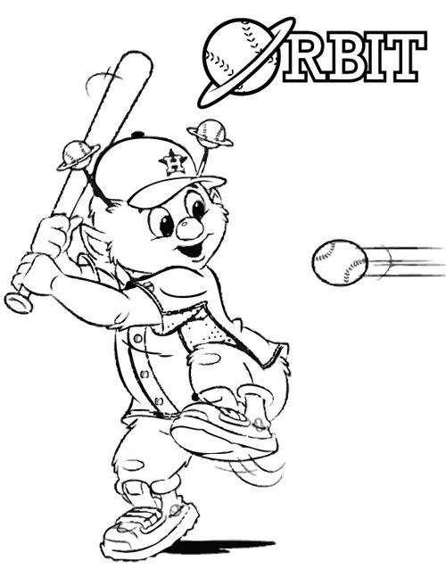 Orbit Mascot Coloring Pages