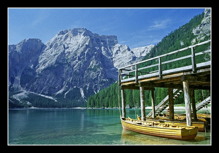 Braies Lake, Domlomites, Italy