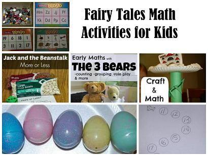 Math Activities to accompany various #FairyTales for #preschool & #kindergarten