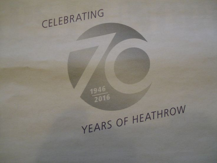 Heathrow 70th Anniversary Logo, from Evening Standard 31 May 2016