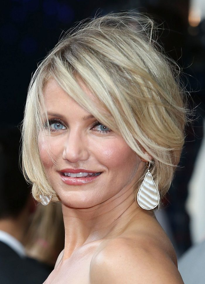 Cameron Diaz with Short Hair ~ http://heledis.com/applying-cameron-diaz-hairstyles-for-your-hair/