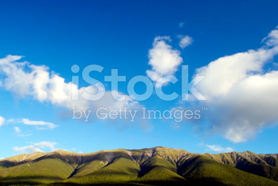 Mountain-range and Sky Background royalty-free stock photo