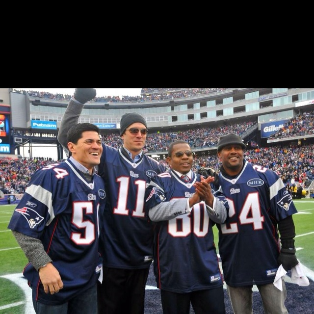 AFC Championship Honorary Captains – Drew Bledsoe, Troy Brown, Ty Law and Tedy Bruschi - love all these guys!!