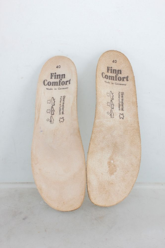 820315c8ed530 Finn Comfort German Cork Leather Insoles Made in Germany Size 40 Altered  #FinnComfort