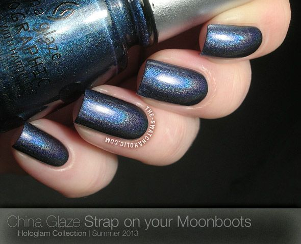 China Glaze Hologlam Strap on your Moonboots swatch swatches holographic holo prismatic