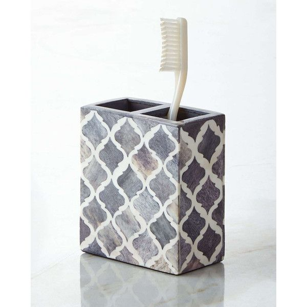 Marrakesh Toothbrush Holder featuring polyvore home bed & bath bath bath accessories grey gray bathroom accessories grey bathroom accessories
