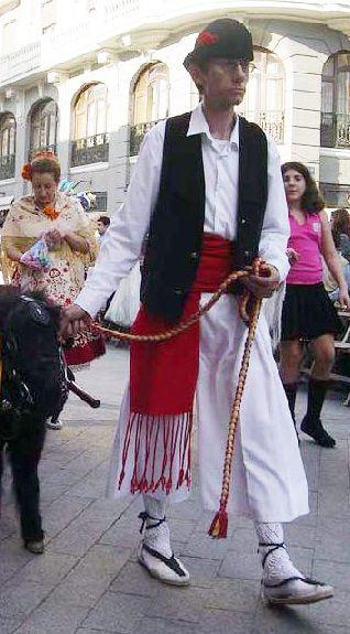 Traje regional tradicional de murciano.