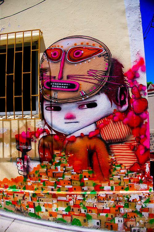 Street Art in Valparaiso, Chile.