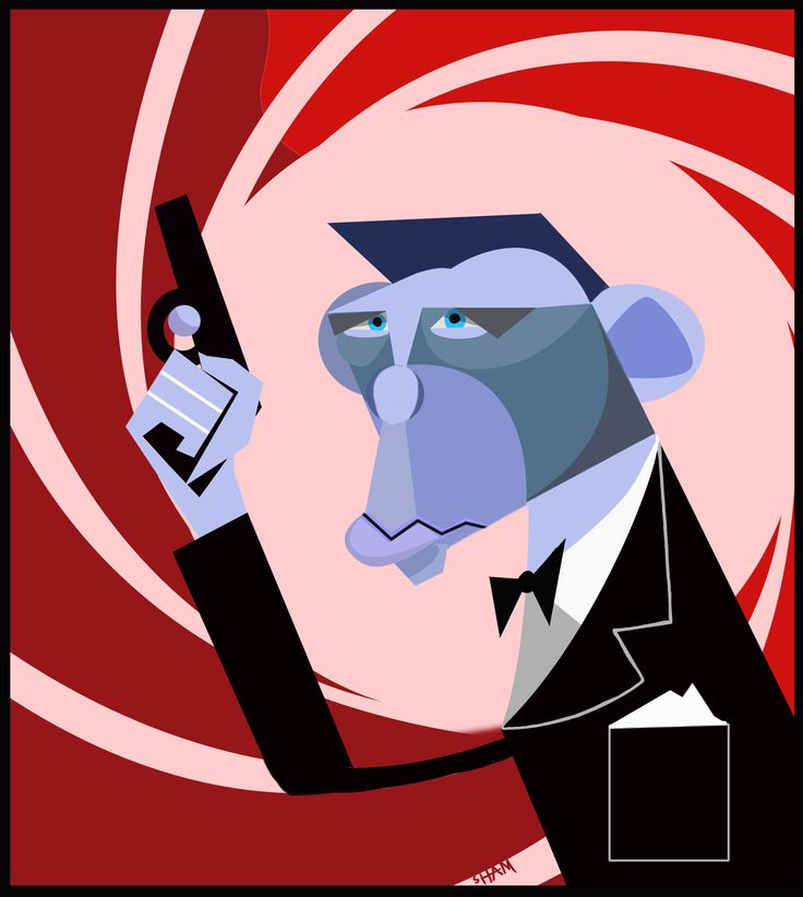 James Bond Caricature