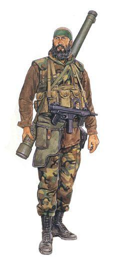 Soldado Chiíta perteneciente a Hizbollah, Beirut, 1987.