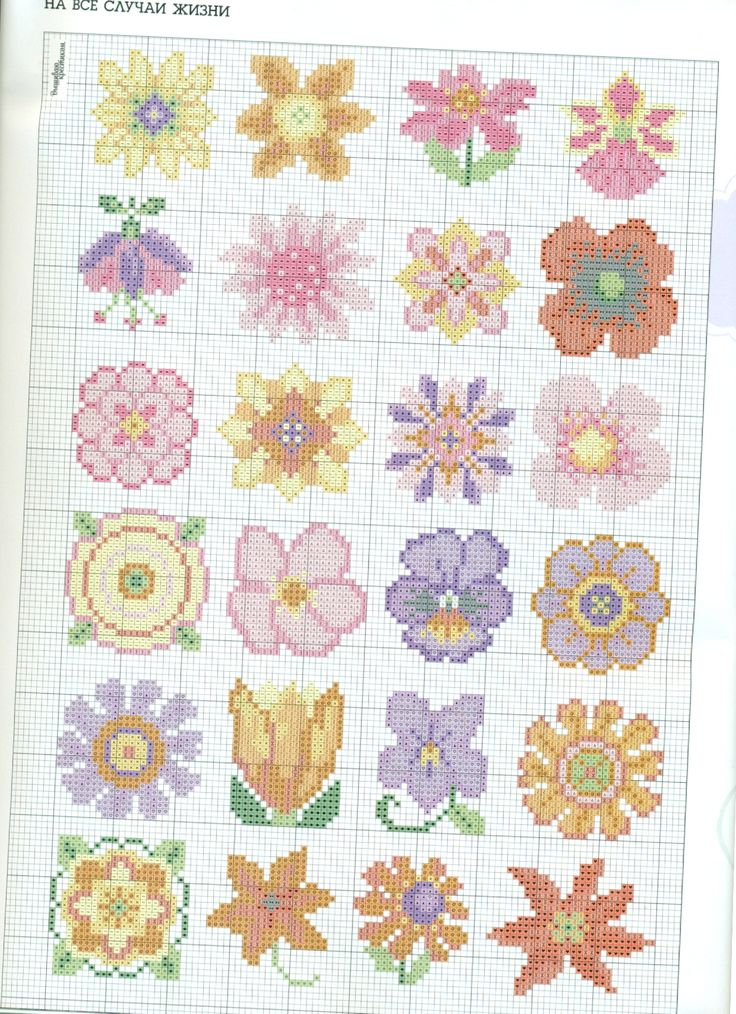 Best cross stitch mini flower images on pinterest