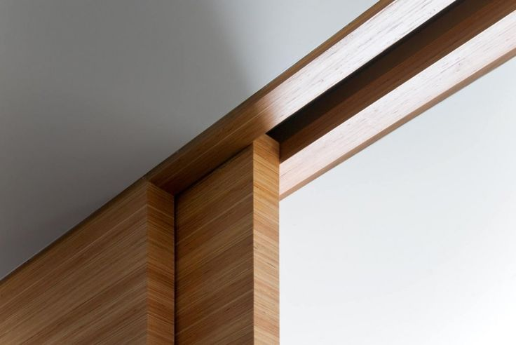 Pocket Door Detail @ East 10th Street NY Residence by VIRALINE Architecture