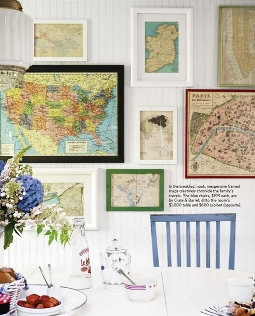 Best Decorating With Maps Images On Pinterest Home Old Maps