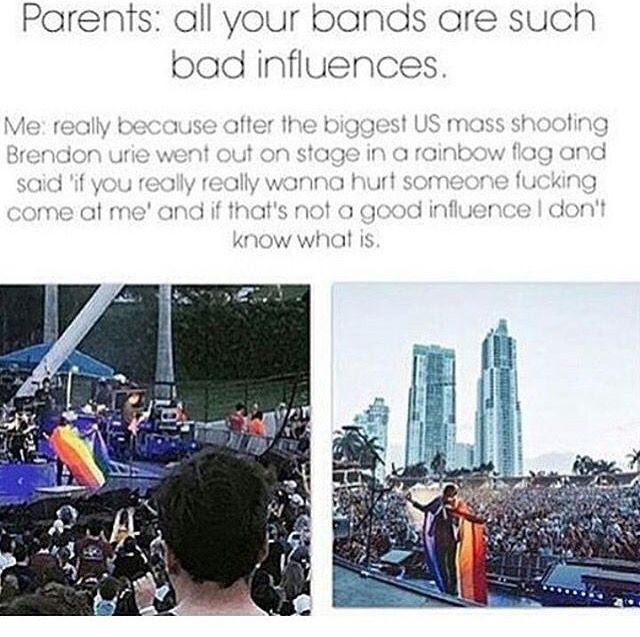 """That moment when your """"Evil satanic bad influence"""" bands are better influences then the accepted and praised pop stars"""