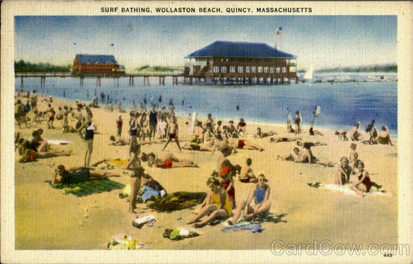 Surf Bathing, Wollaston Beach Quincy Massachusetts