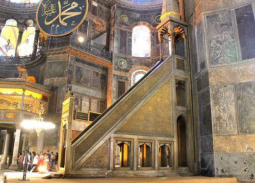 Istanbul: Hagia Sophia (minbar)
