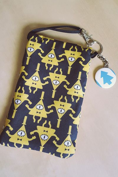 Gravity Falls Bill Cipher Purselet - Handmade - Phone Nintendo 3DS XL PSP Case Mini Purse Pouch Wallet with Free Gift - READY TO SHIP Mabel Pines Dipper Pines Mystery Twins