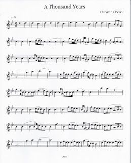 Flute & Tenor Sax Sheet Music :): A Thousand Years