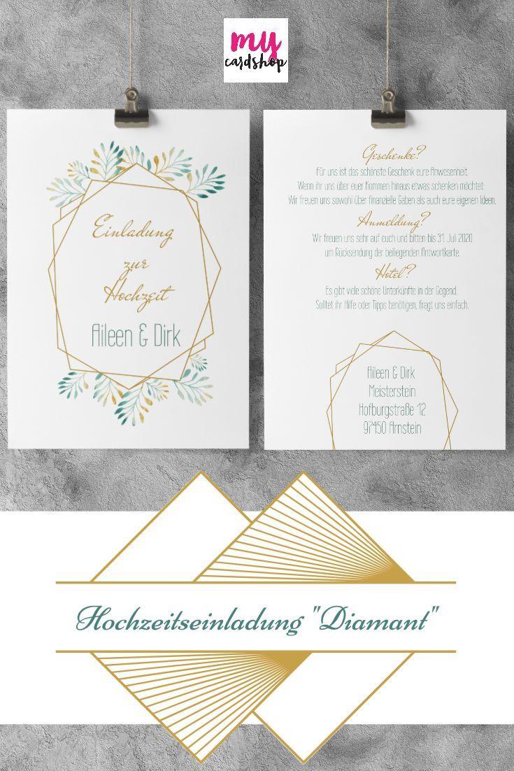 Die Perfekten Hochzeitskarten Im Graphischen Stil Fur Deine M