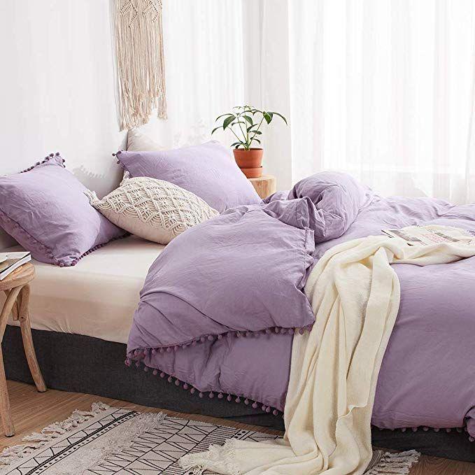 Amazon Com Move Over 3 Pieces Light Purple Bedding Purple Duvet