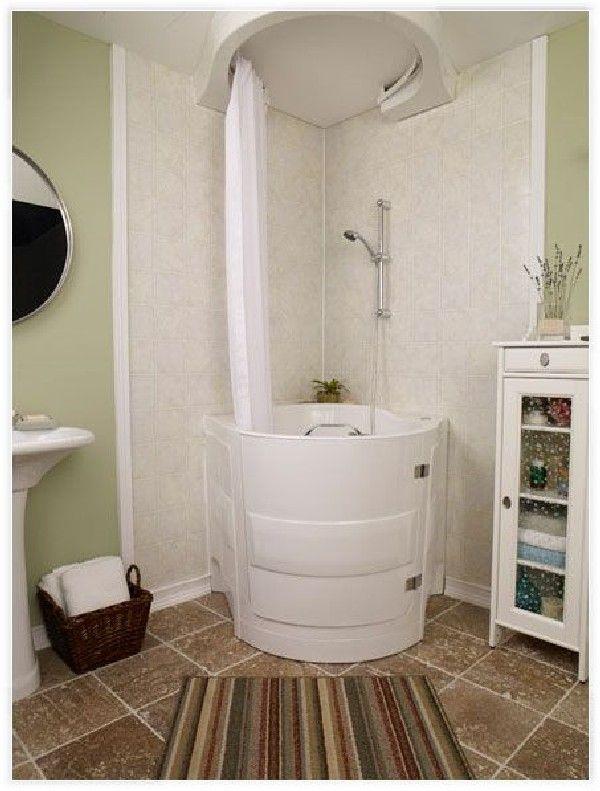 5 Awesome Tiny Bath Tub Ideas For Your Tiny House Walk In Tub Shower Bathtub Shower Combo Tiny Bath