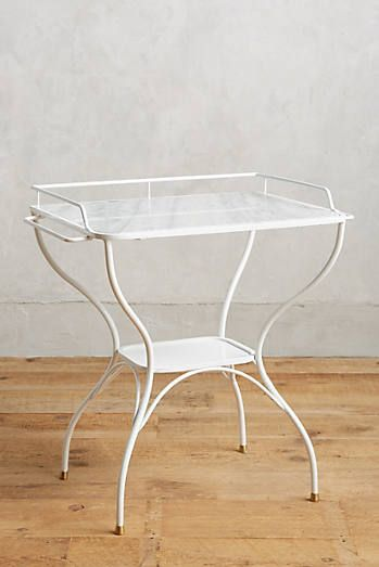 Marble-Topped Bar Table