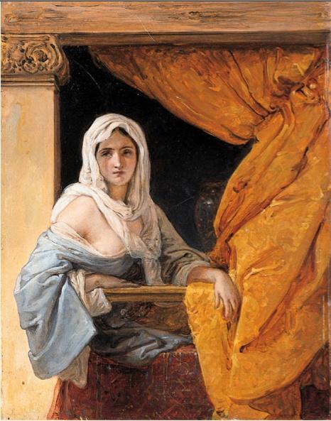 Francesco Hayez, Odalisque looking out her window
